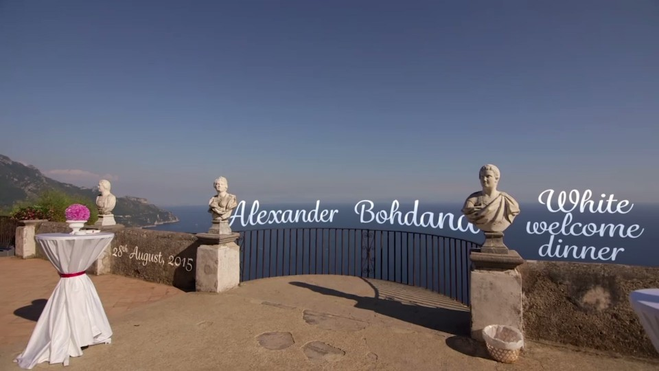 welcome dinner video in amalfi coast Nitrato d'argento